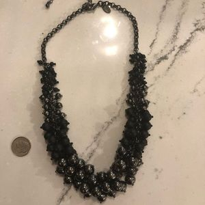 Lia Sophia black and hematite necklace.